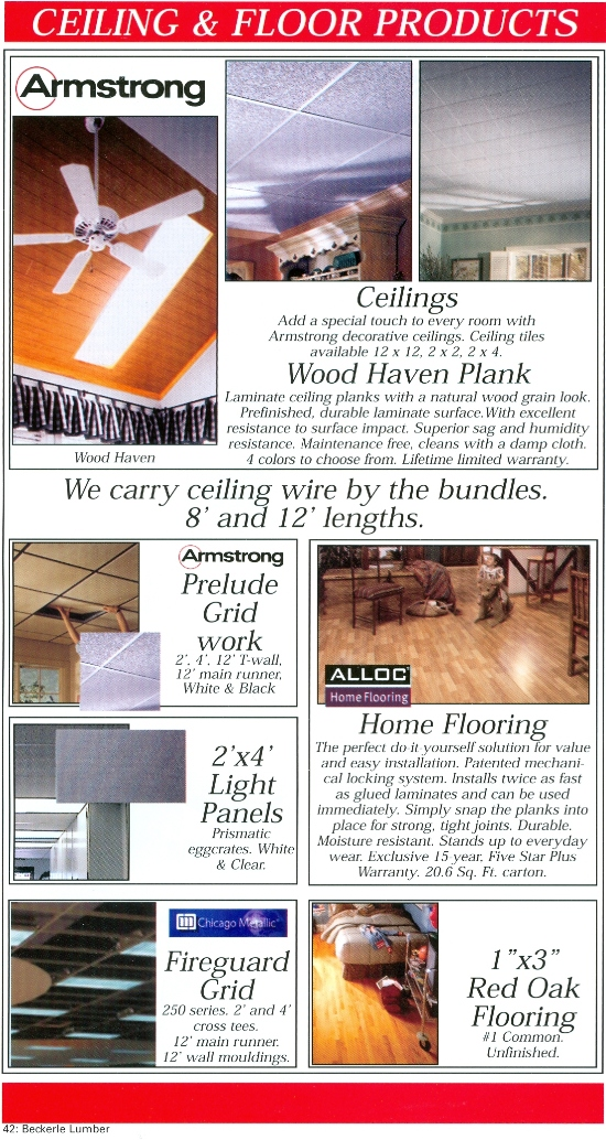Beckerle Lumber Source Book - Ceiling & Floor Products