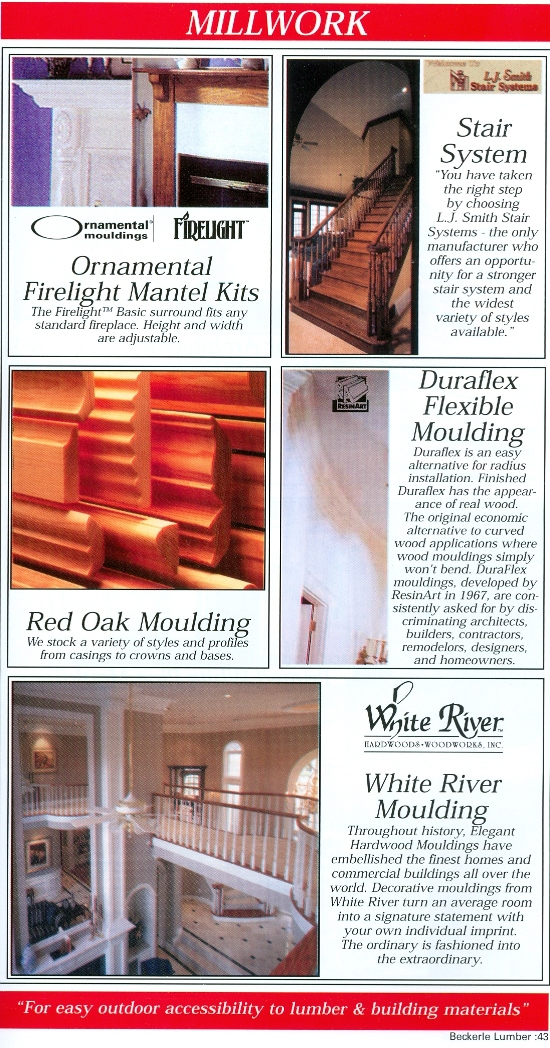 Beckerle Lumber Source Book - Millwork Products