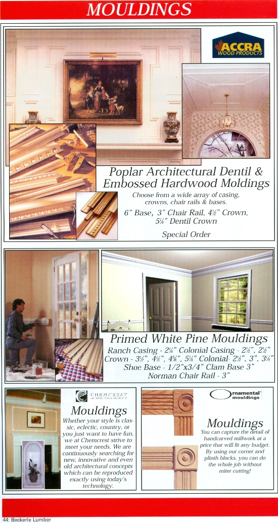 Beckerle Lumber Source Book - Moulding