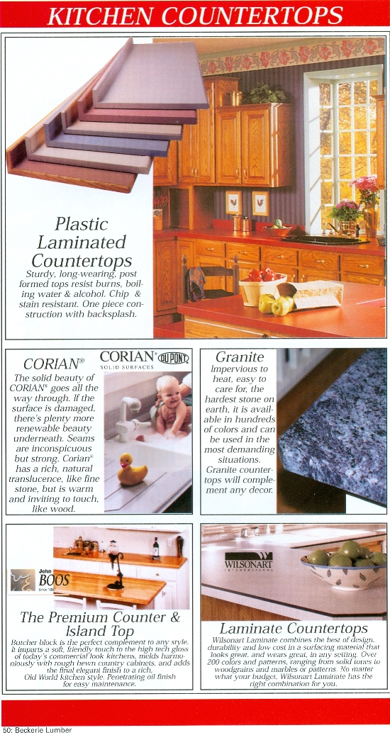 Beckerle Lumber Source Book - Kitchen Counter Tops