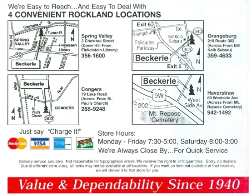 Beckerle Lumber Products