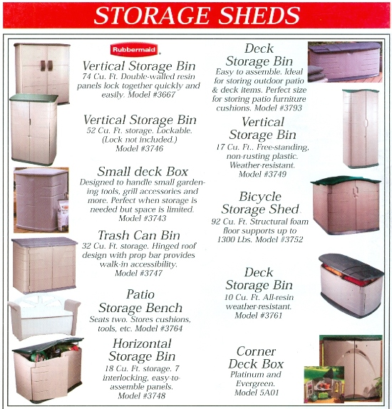 Beckerle Lumber Source Book - Storage Sheds