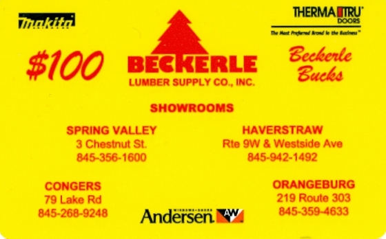 Beckerle lumber - Support your local Business's - Buy a GIFT card online                                           contact us