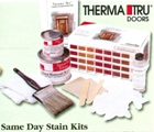 Beckerle Lumber - Same Day Stain kits for Thermatru fiberglass doors.