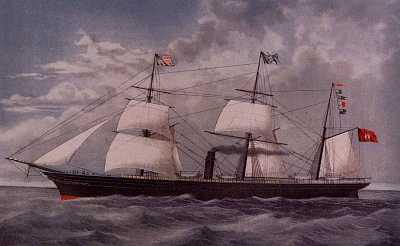 BAVARIA-The ship to America 1859                                    click to enter Beckerle Lumber Blog