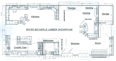 Beckerle Lumber Showroom Products.  Come in and See                               How Your Dreams Can come True.                We Have What You Need for Improving your Home                Where Dreams are realized.