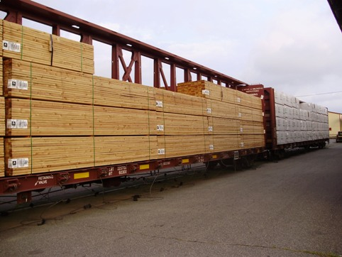 NEW LUMBER ARRIVING DIRECT FROM THE MILL by RAIL from the WEST COAST                 saving you money since 1940...Beckerle Lumber a family tradition.